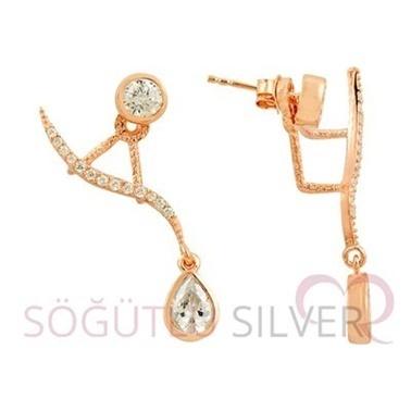 Söğütlü Silver Küpe Pembe